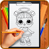 Learn How to Draw Cute Surprise Dolls APK Icon