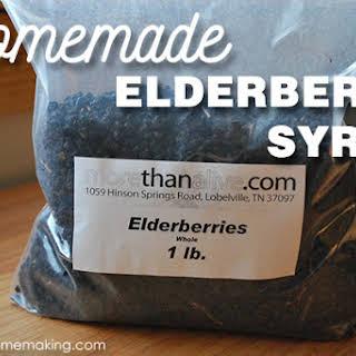 Homemade Elderberry Syrup.