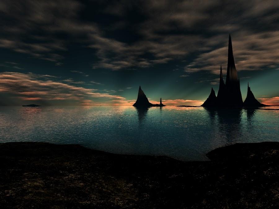 Santa linda islands by Linda Czerwinski-Scott - Illustration Sci Fi & Fantasy ( fantasy, 3d, illustration, design )