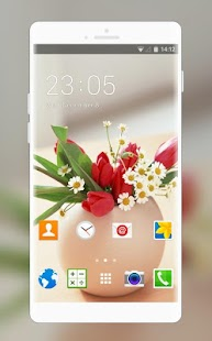 Flower Theme for Alcatel OneTouch Idol 3 (4.7) - náhled