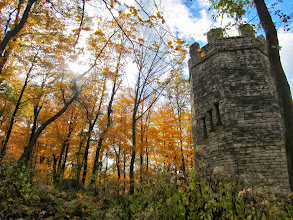 Photo: Gorgeous autumn forest closing in on a stone castle at Hills and Dales Metropark in Dayton, Ohio.