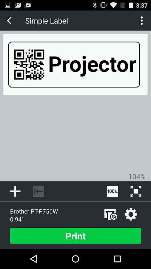 Brother iPrint&Label- screenshot