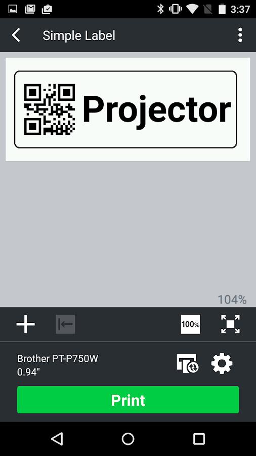 Brother iPrint&Label - screenshot
