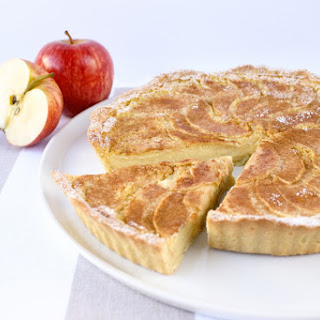 Baked Custard Tart With Spiced Apple