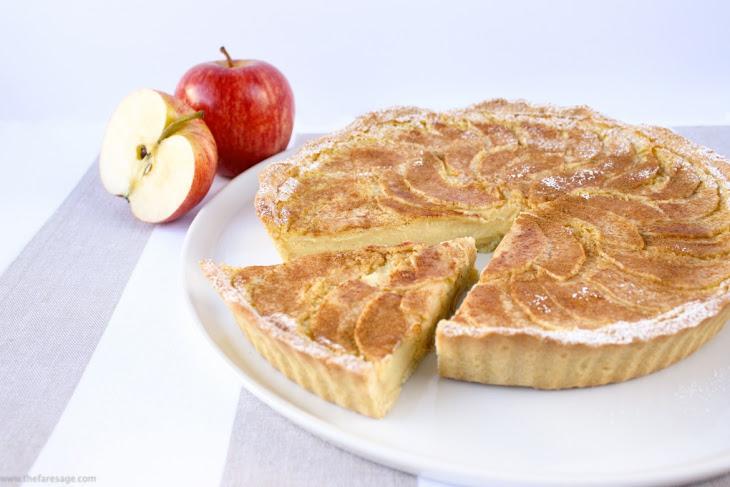 Baked Custard Tart with Spiced Apple Recipe