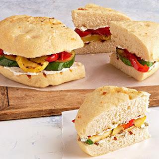 Grilled-Vegetable Focaccia Wedges.