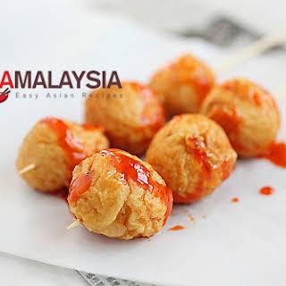Fried Cuttlefish Balls (炸墨鱼丸).