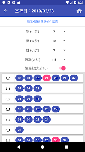 威力彩 - 遺漏大數據 screenshot 3