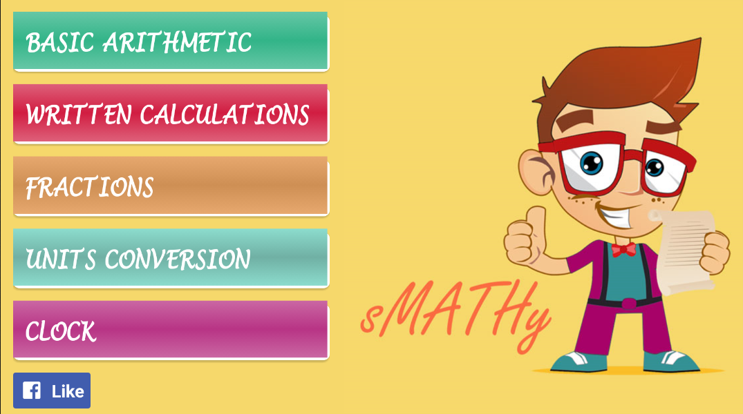 sMATHy: Fractions & Clock