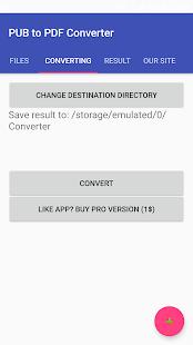 PUB to PDF Converter - náhled