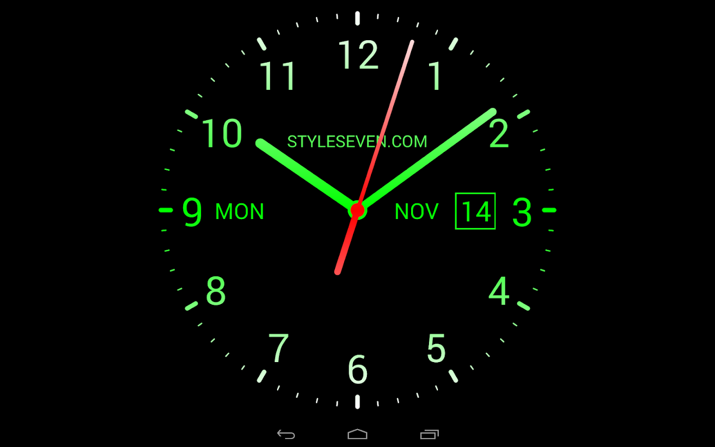 Analog Clock Live Wallpaper 7 Google Playde Android Uygulamalar