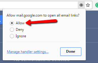 Allow Gmail to Open Email Links