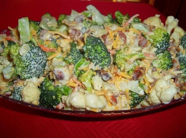 Creamy Broccoli / Cauliflower Salad Recipe