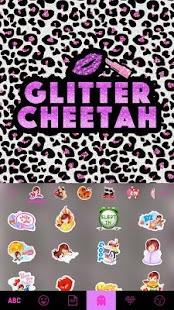 Glitter Cheetah Kika Keyboard - náhled