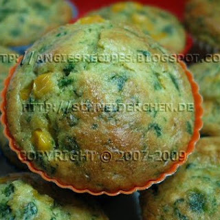 Spinach Sweet Corn Muffins