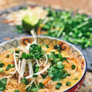 Thai Coconut Curry Chicken Soup (30 Minute Recipe).