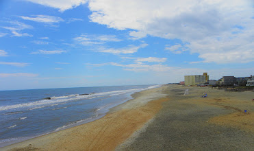 Photo: The beach at Jennette's Pier