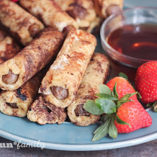 French Toast Wrapped Sausage Dippers.