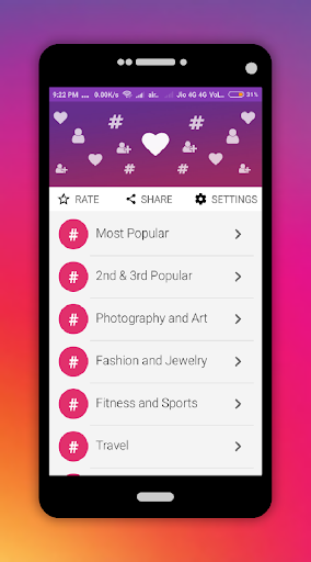 Instagram HashTags for Followers and Likes screenshot 2