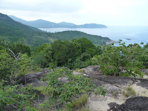 Photo: Ko Phangan - trek from Haad Khom to Haad Khuat, further in backgroung Chaloklum bay, then hidden Haad Khom bay and visible little bit of trail from Haad Khom