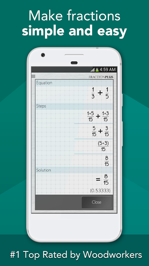 Fraction calculator plus free android apps on google play fraction calculator plus free screenshot ccuart Gallery