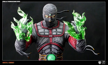 """Photo: Image of the 18"""" Ermac Statue revealing his alternate switchable 'Soul Hands'."""