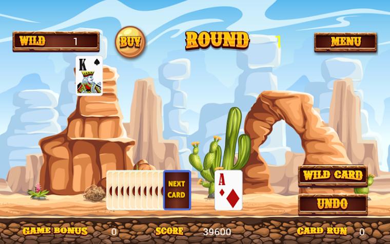 Wild West Tri Peaks Solitaire Screenshot