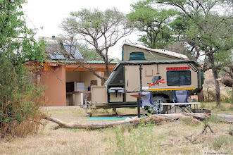 Photo: Camping at Motswedi Camp Site in the Mokala National Park. A 4x4 caravan, unfortunately not mine!