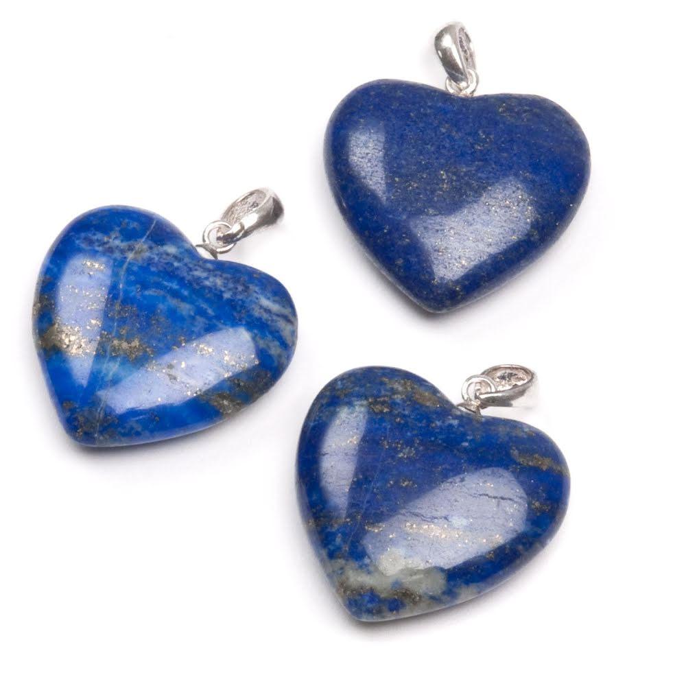 Lapis lazuli hänge i form av hjärta