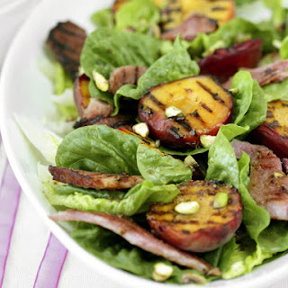 Grilled Ham and Peach Salad