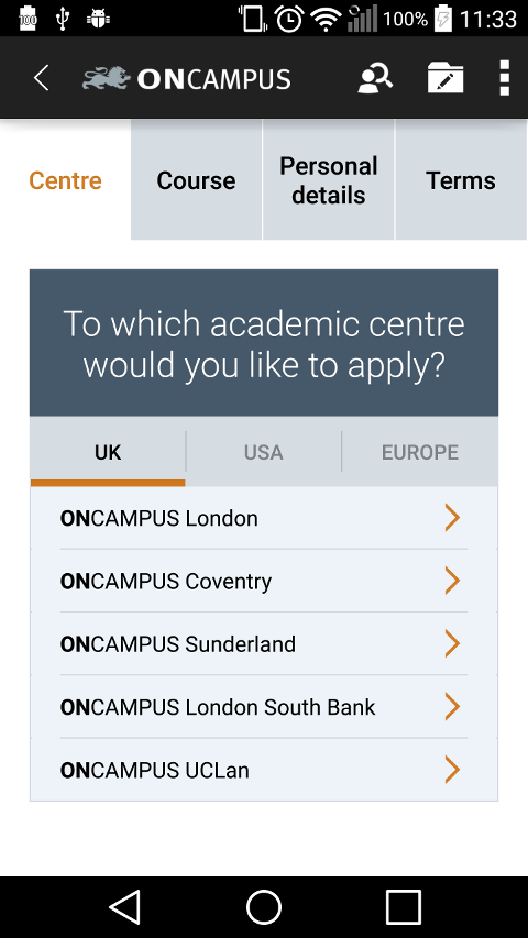 ONCAMPUS Coursefinder- screenshot
