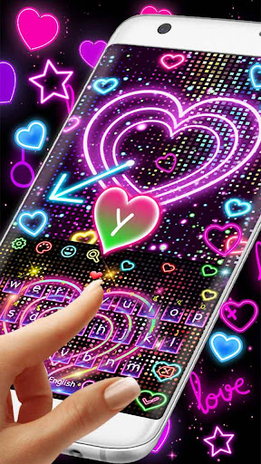 Neon Heart Keyboard 10001006 screenshots 2