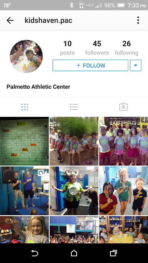 Palmetto Athletic Center- screenshot