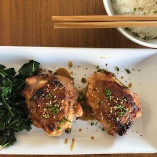 Miso-Mustard Chicken Thighs Recipe