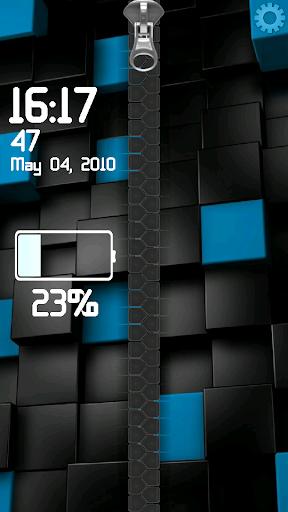 黒と青ジッパー