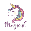 Pastel Unicorn Words Keyboard Stickers for Gboard icon