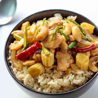 Thai Cashew Chicken Stir Fry.