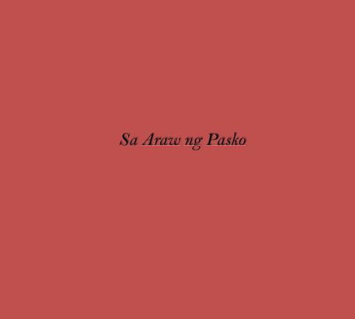 Sa Araw ng Pasko Lyrics