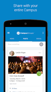 CampusGroups- screenshot thumbnail