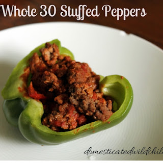 Whole 30 Stuffed Peppers.