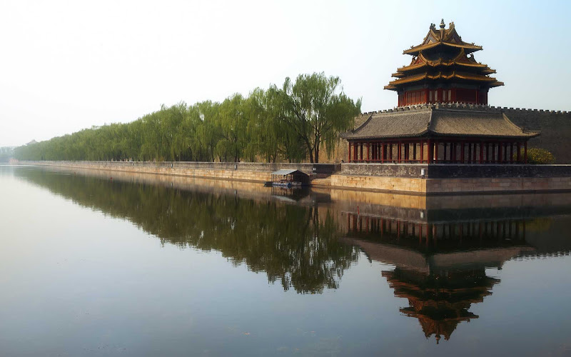 Jinshang Park is north of the Forbidden City in Beijing.