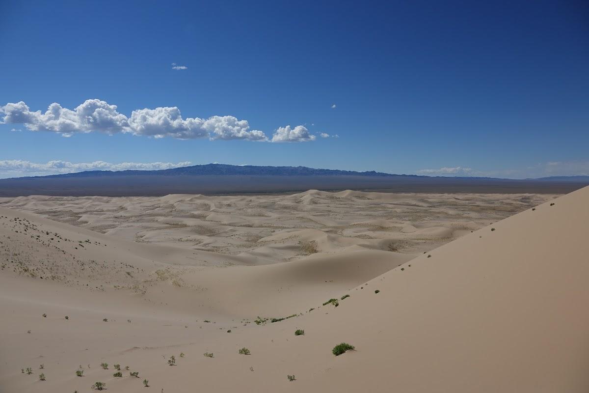 Vue sur les Dunes de sable de Els Khongoryn