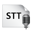 Simple STT (Speech to Text) icon