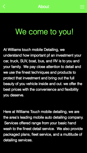 Williams Touch Mobile Detailin- screenshot