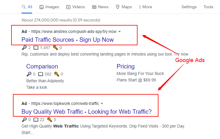 how to get website traffic using google ads