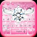 Silver Diamond Ring Keyboard Theme icon