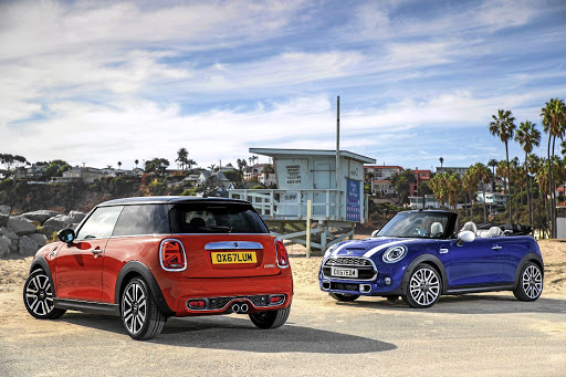 The updated Mini will feature some unique touches such as the Union Jack tail lights. Picture: BMW