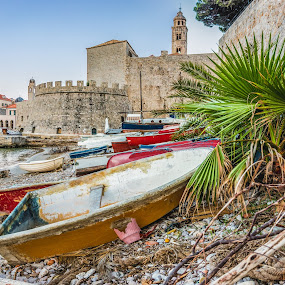 Dubrovnik's Old Harbor  by Ryan Inhof - Transportation Boats ( croatia, fishing, harbor, old town, dubrovnik, boats )