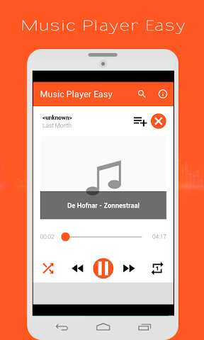 android Music Player Easy Screenshot 1