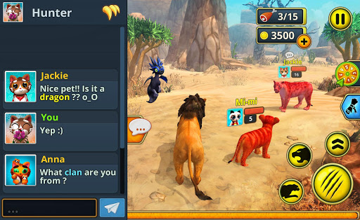 Lion Family Sim Online - Animal Simulator 4.0 screenshots 13